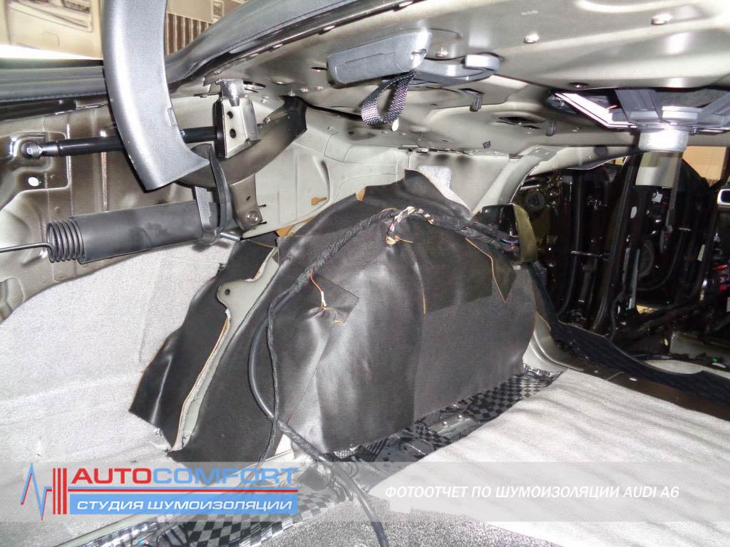 Шумоизоляция колесных арок AUDI A6 цена