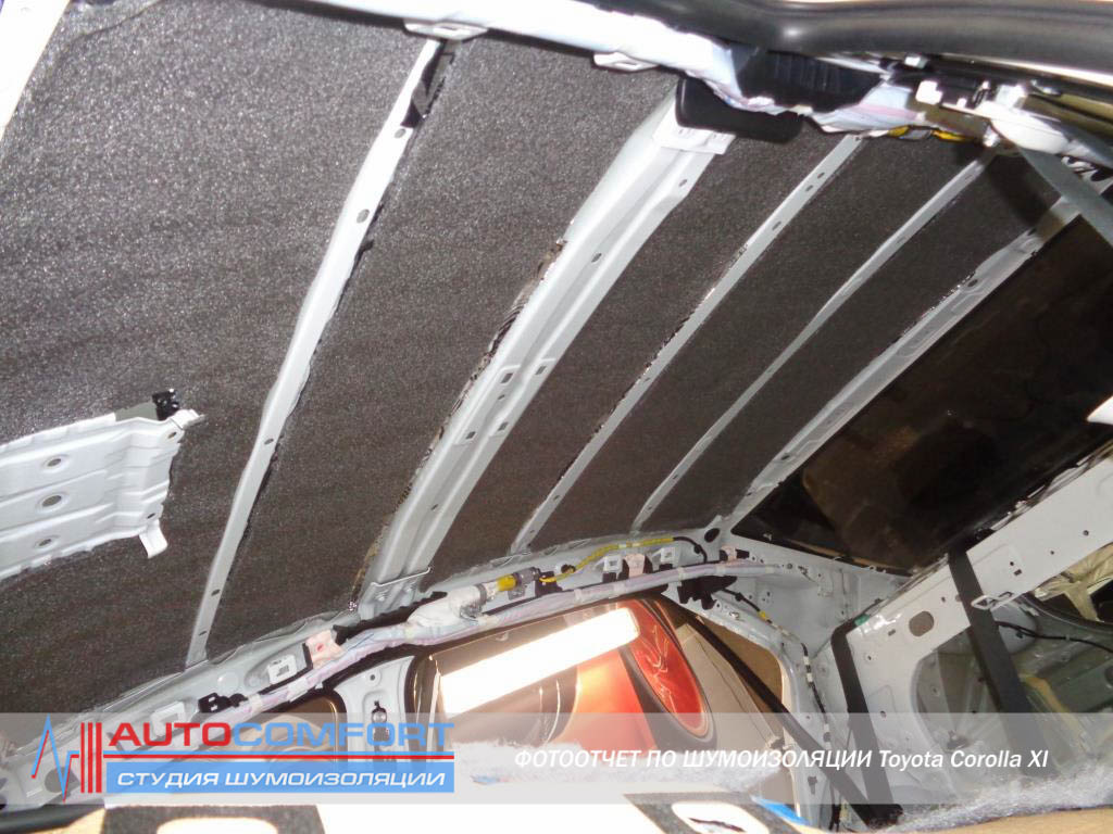 Шумоизоляция крыши авто своими руками 12