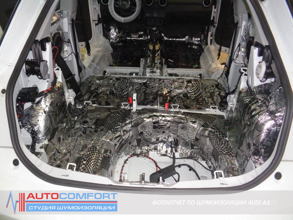 Шумоизоляция багажника AUDI A1 фото