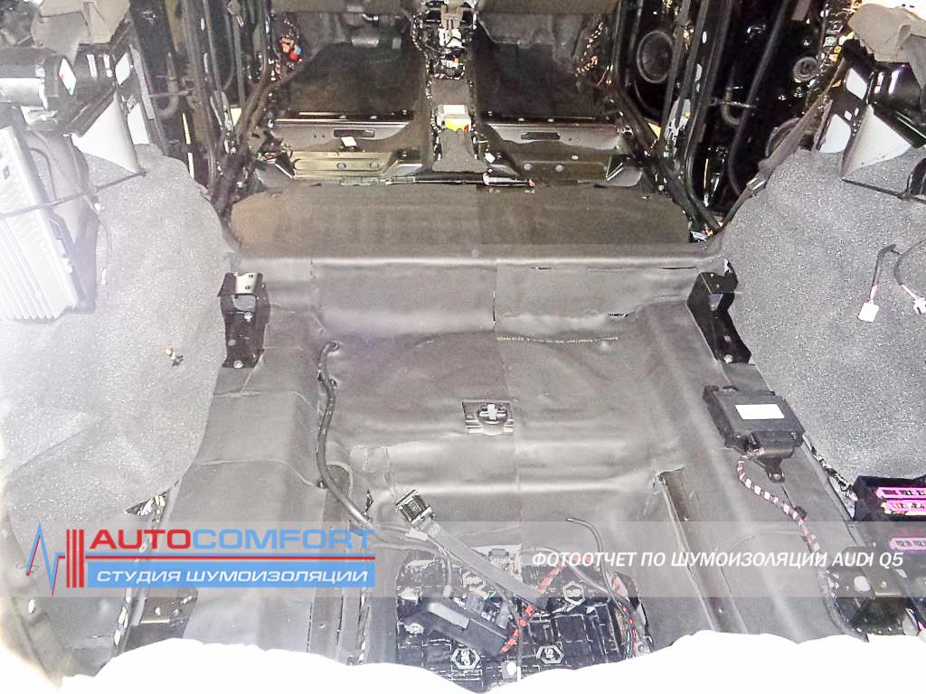 Шумоизоляция багажника AUDI Q5 фото
