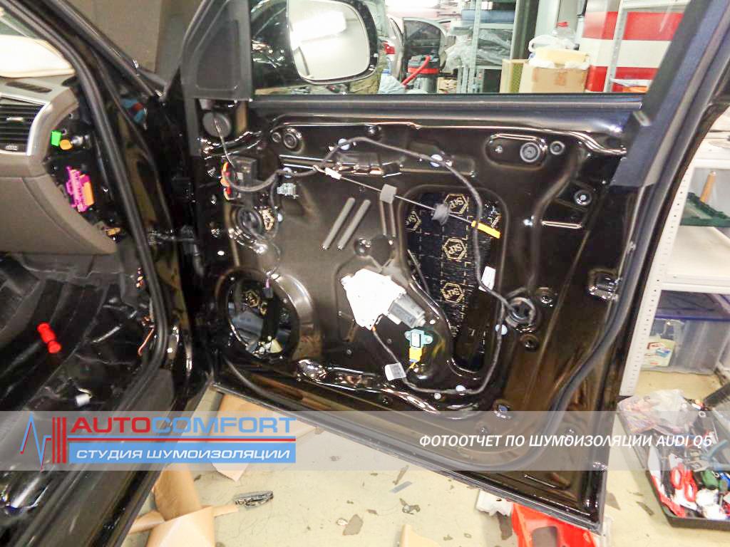 Шумоизоляция дверей Audi Q5 фото