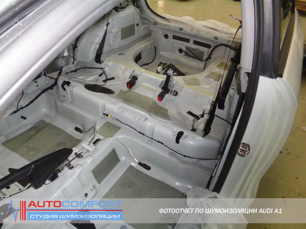 Шумоизоляция пола авто AUDI A1
