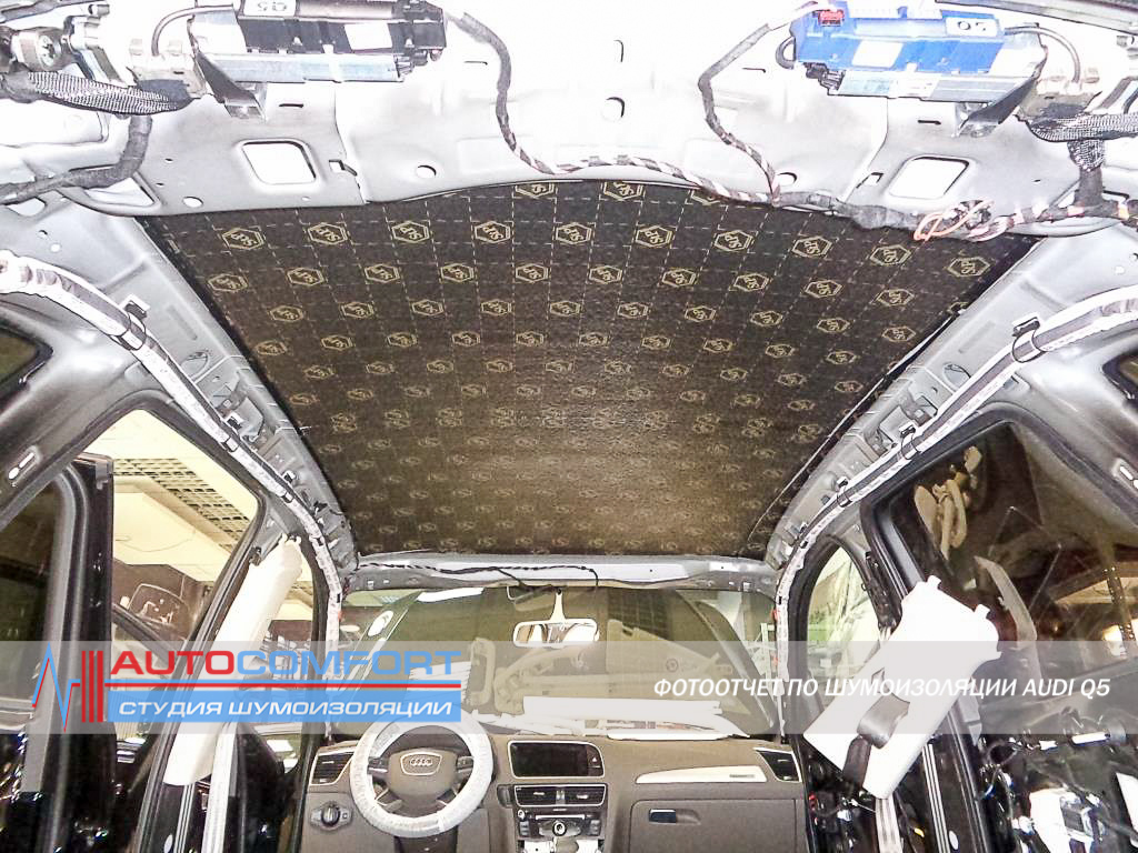 Шумоизоляция крыши AUDI Q5 фото